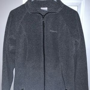 gray columbia zip up